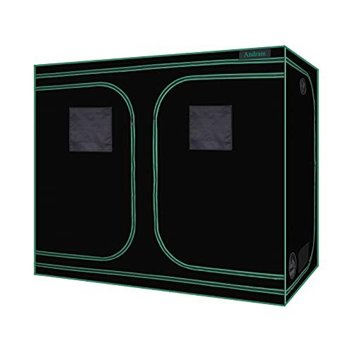 ANDRAM Grow Tent, 8'x4' 600D Mylar Reflective Grow Tents for Hydroponics Indoor Growing, Grow...