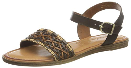 Tamaris Women's 1-1-28136-26 Sandal, Cognac Comb, 8 UK