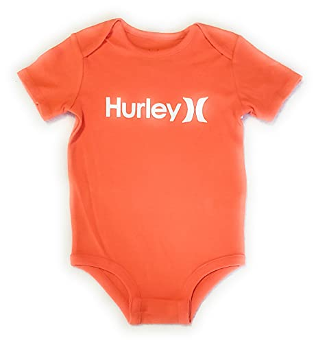 Hurley Baby Graphic Bodysuit, Turf Orange One/Only, 3/6M