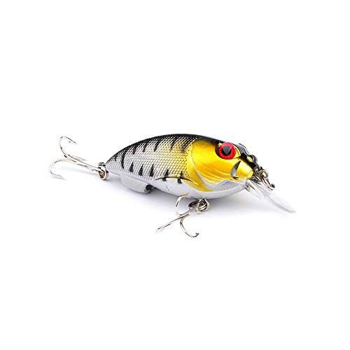 Xinanlongjb ZZB-Lure, 1PC Pesca Crankbait Pesca Wobblers Cebo Duro Swimbait Flotante 7cm / 9.6g Señuelo de Pesca Minnow for Pesca de Carpa Marina (Color : G)