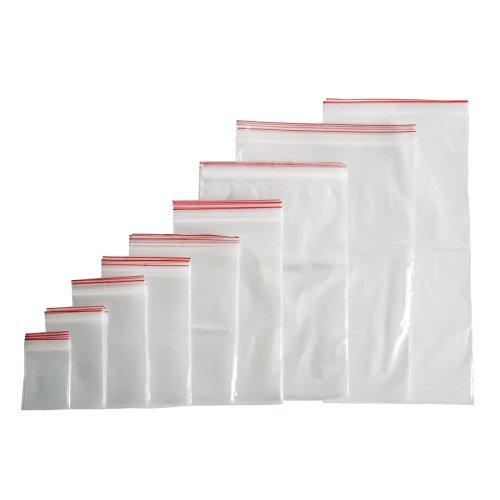 100 St. ZIP Beutel Druckverschluss 20x30cm Polybeutel Tüte Verschlussbeutel Versandtasche Wiederverschließbar (40 Größen zur Auswahl)