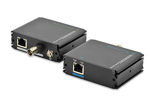 DIGITUS PoE+ Extender Set- Reichweite bei RJ45 bis 400m / bei Coax bis 500m - Fast Ethernet bis 100 MBit/s