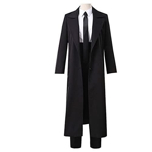 Anime Comic Motosierra Hombre Disfraces Makima Cosplay Vestido de Uniforme de Enfermera Traje Negro Gabardinas Disfraz de Halloween Conjunto Completo Unisex - Modelo 1, XL, Mujer