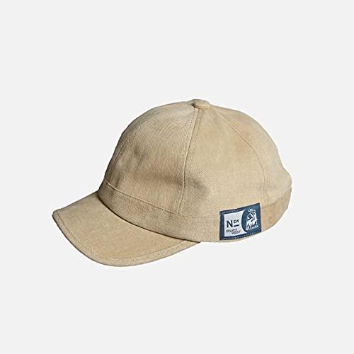 WSMYG Sombrero De ala Corta para Mujer Gorra De Béisbol con Tapa Blanda Gorras De ala Corta para Hombre Caqui Ajustable