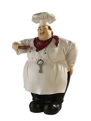 Casablanca Spardose der Koch - aus Poly handbemalt abschließbar H 31 cm