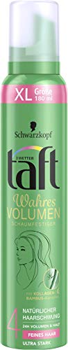 3 Wetter taft Schaumfestiger Wahres Volumen feines Haar ultra starker Halt 4, 6er Pack(6 x 180 ml)