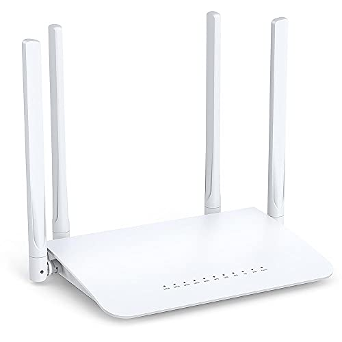 WiFi Router AC1200 for Home, Wireless Router, Dual Band WiFi Router with 4 Gigabit LAN Ports, Supports Beamforming, Guest Wi-Fi, WISP