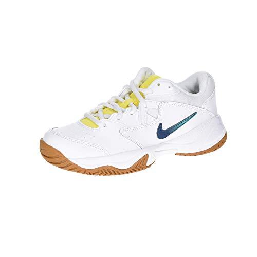 Nike Damen Court Lite 2 Tennisschuh, Weiá (Weiß/Baldrian Blau-Orakel Aqua-Opti Gelbweizen), 38 EU