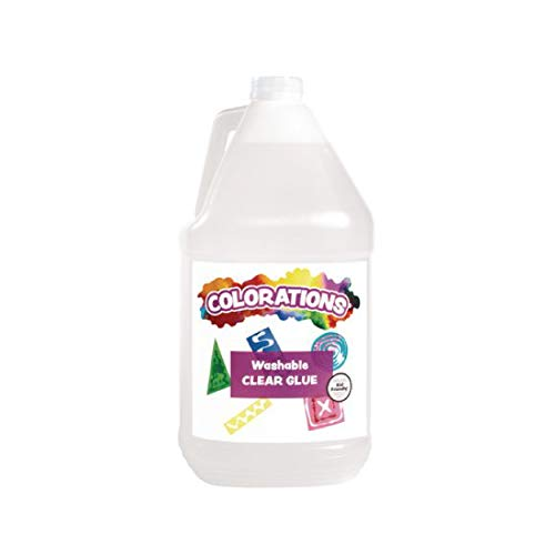 Colorations Washable Clear Glue Craft Supply for Classroom Arts and Crafts Activities (1 Gallon)