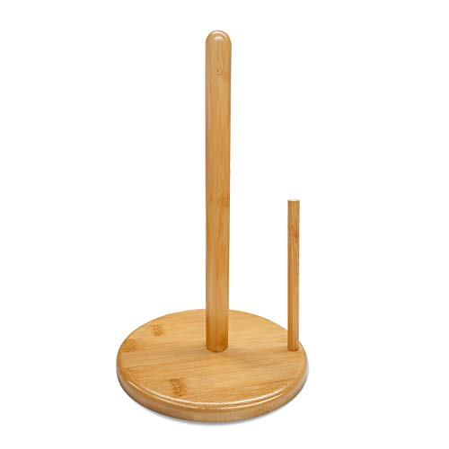 Zengest Bamboo Paper Towel Holder Countertop, Kitchen Stand Paper Towel Holders & Dispenser, 12 Inches