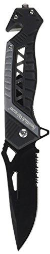 Smith & Wesson Unisex– Erwachsene Rettungsmesser-Klingenlänge: 8,9 cm-Linerlock, Mehrfarbig, 21.5 cm