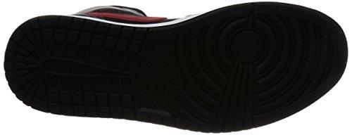 Nike Jordan Men's Air Jordan Mid Black/Team Red/Team Red/White Basketball Shoe 9.5 Men US