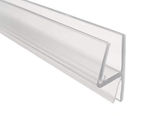 KRISTHAL Tür-Anschlagdichtung Glas-Glas 180° - 5080, Duschdichtung für 6 und 8 mm Glas, Duschleiste mit 200 cm Länge, Duschtürdichtung Made In Germany, Art. Nr. 5080