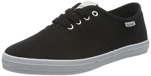 ESPRIT Damen 031EK1W312 Sneaker, 001/BLACK, 41 EU