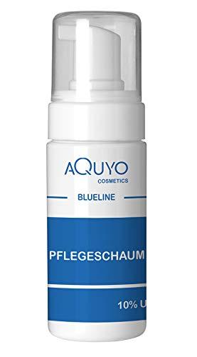 Blueline 10% Urea Schaum für sehr trockene Haut und Füße | Fußschaum & Körperschaum zur Pflege für empfindliche und rissige Haut | parfümfrei, silikonfrei, parabenfrei (100ml)
