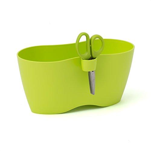 Prosperplast Limes Doblo Double pot à herbes aromatiques Plastique Ciseaux inclus, citron vert