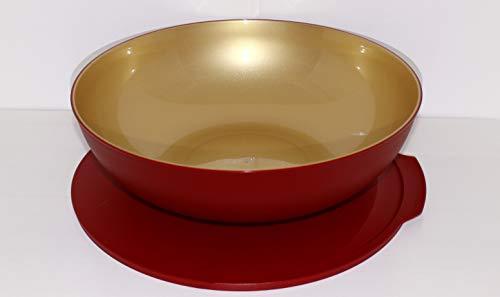 Tupperware Allegra 3,5 L Gold rot Schale Schüssel Servierschale Allegra-Gold