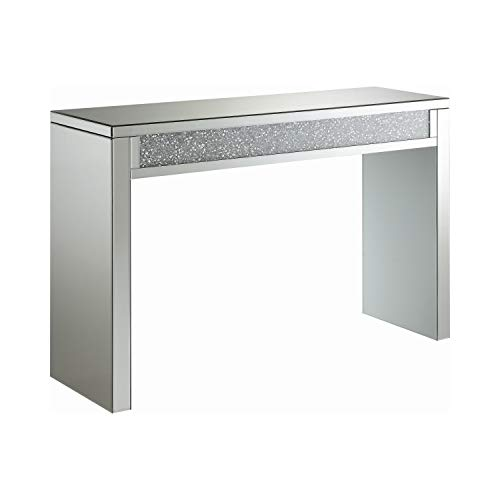Coaster Home Furnishings Layton Rectangular Silver and Clear Mirror Sofa Table