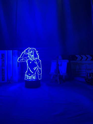 3D noche luz 3D lámpara anime mi héroe Academia luz para dormitorio decoración niño niños regalo de cumpleaños manga lámpara mi héroe Academia zBXQ