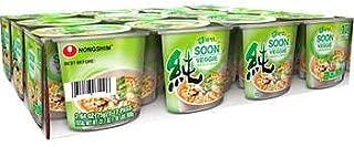 Nongshim Soon Veggie Noodle Soup, 2.64 oz, 12 ct