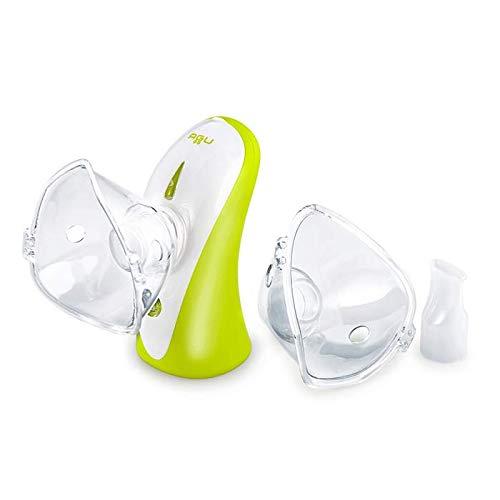 AGU Tomchi Inhaliergerät für Kinder & Erwachsene - Elektrischer Inhalator bei Erkältung & Atemwegsbeschwerden - Zum Inhalieren von Salzlösung & Medikamenten - Geräuscharm & tragbar, 35 ml/Min.