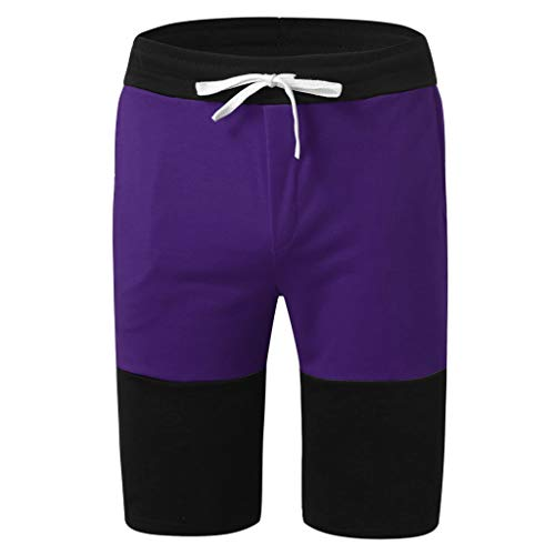 Men Shorts Swimsuit Stripe Sports Running Hip Hop Trousers Casual Beach Drawstring Short Pants Sweatpants