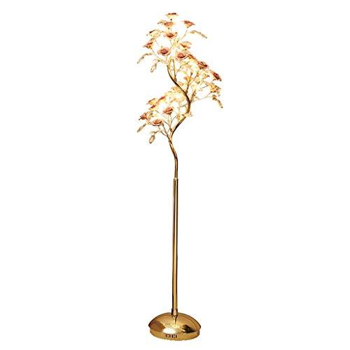 Lampes de chevet Vertical Fleur LED Lampadaire Moderne en Céramique Cristal Lampe Chambre Salle À Manger Lampadaire Lampe De Table Basse (Color : Pink, Size : 50 * 162cm)