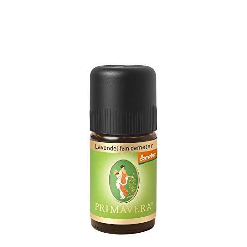 PRIMAVERA Ätherisches Öl Lavendel fein demeter 5 ml - Aromaöl, Duftöl, Aromatherapie - ausgleichend, beruhigend, entspannend - vegan