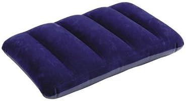 Intex 68672 - Almohada hinchable flocada, 43 x 28 x 9 cm, color azul