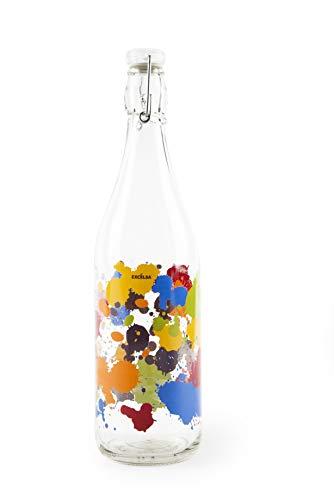 Excelsa - Botella Transparente con decoración de Goteo, 1