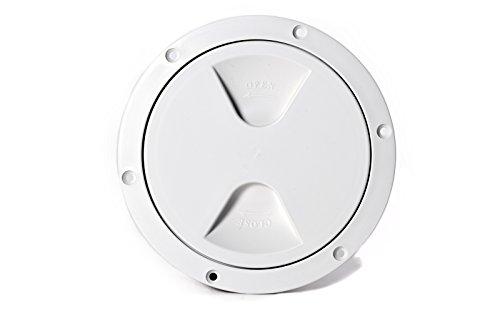 wellenshop Inspektionsdeckel Revisionsdeckel Weiß Durchmesser 145 mm
