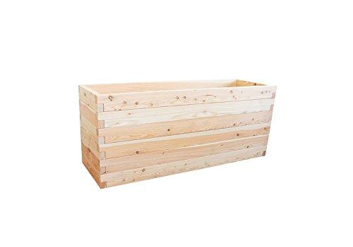 Hochbeet LÄRCHE Größe 4 – 190,5x60,5x78 cm (LxBxH) - Das regionale und soziale Holzhochbeet von Gartenallerlei©