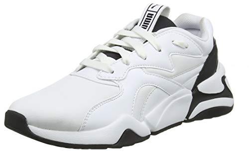 PUMA Nova Wn's, Zapatillas Deportivas para Mujer, Blanco White Black, 38 EU