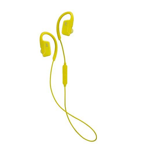 JVC Ae Auriculares inalámbricos Bluetooth Auriculares intrauditivos con Ajuste Seguro sobre Clip de Oreja - Amarillo