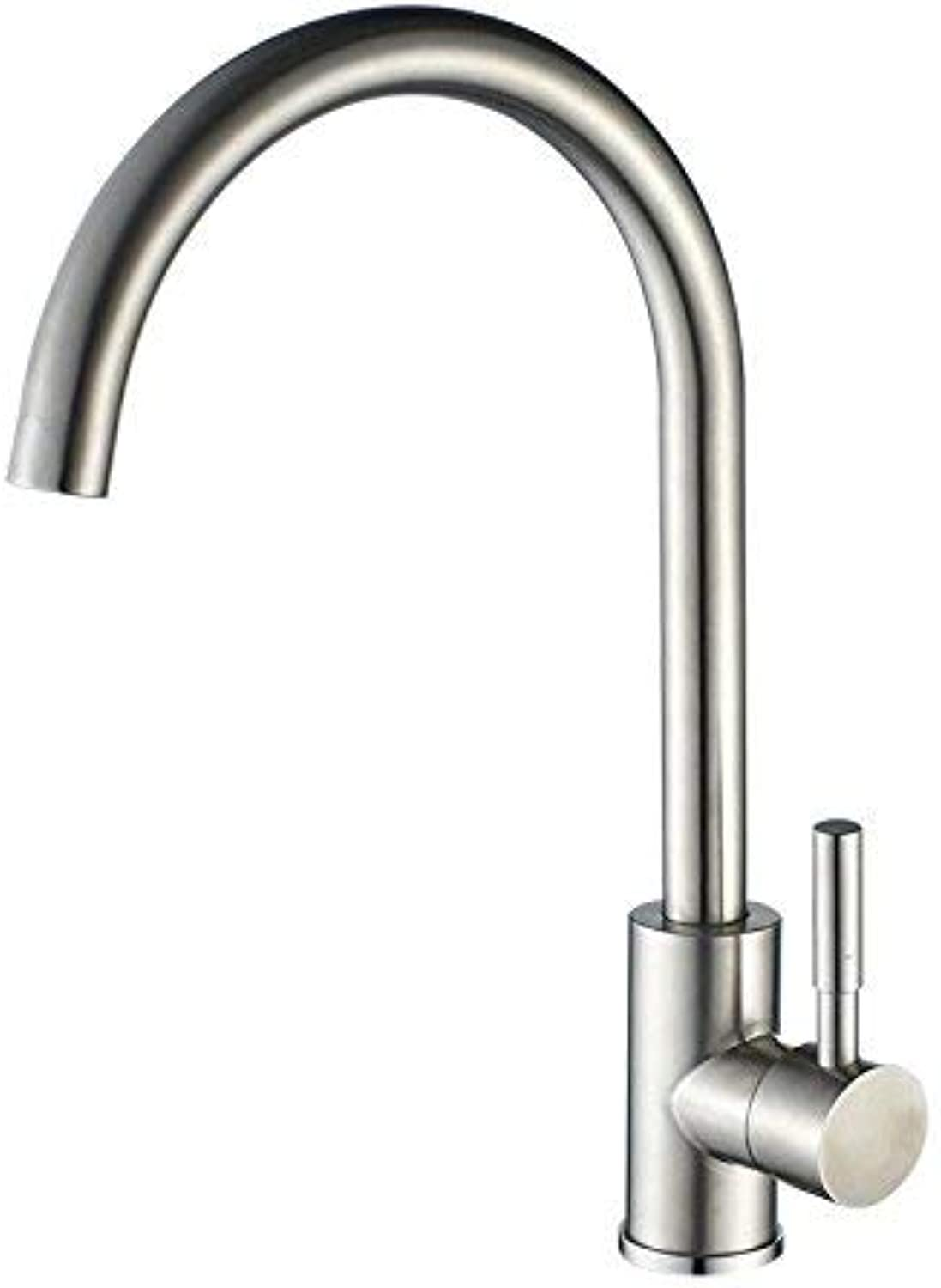 BDYJY ※ Bathroom Sink Faucets Stainless Steel 304 Hot and Cold Water 2 Hole Sink Mixer Sink Faucet Kitchen Faucets