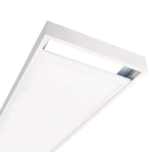 DK Multitec - Kit de Superficie para Panel de 120x30 - Altura 70mm Accesorio para instalación panel LED en Superficie (Blanco)