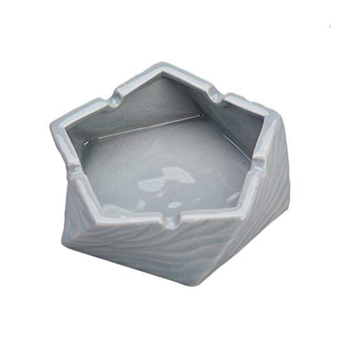 Z-Ash asbak, keramiek, rookkleuren, afvalemmer met gleuf voor kaarten, kaarten, type U, voor kantoor, thuis of kantoor Blue-12.5×4.5cm