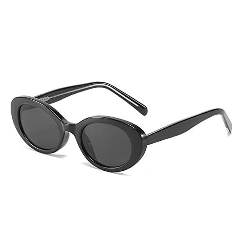 Aiong Gafas de Sol, pequeñas Gafas de Sol ovaladas para Mujer, Color Caramelo Transparente, Gafas para Hombre, Ojo de Gato
