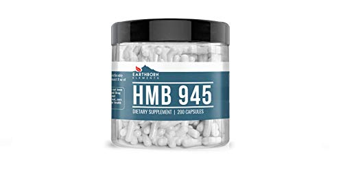 HMB Powder, 200 Capsules, 945 mg Serving, 100% Pure, No Stearate or Rice Filler, Non-GMO, Gluten-Free, Lab Tested, Made in The USA, Potent & Powerful, Satisfaction Guaranteed