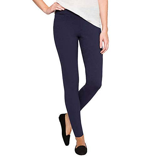 Matty M Women's Leggings with Pockets (Navy, L)