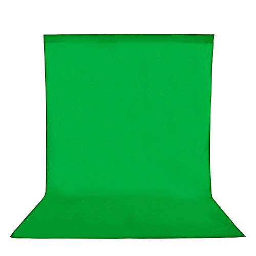 SEDGEWIN 1,8x2,8m/6x9ft Greenscreen Fotostudio Hintergrund Reiner 100% Muslin Faltbare Hintergrund Fotohintergründe für Fotografie Video und Fernsehen