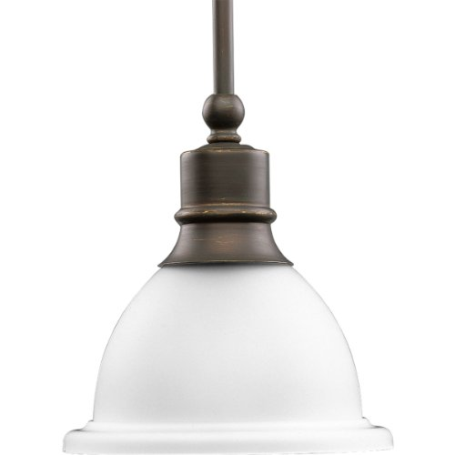 Progress Stem Hung Mini-Pendant with Clear Prismatic Glass Now $16.00 (Was $170)