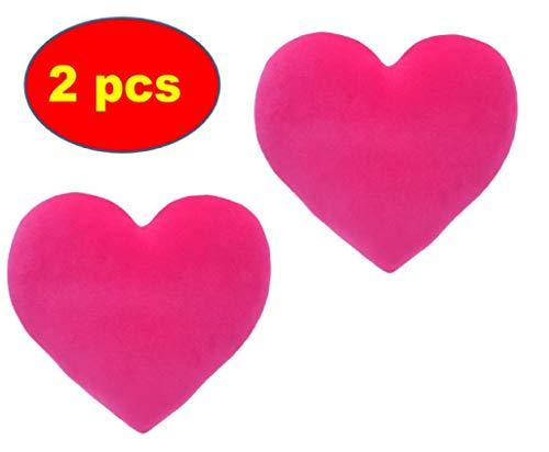 ML Pack 2 Cojin Corazón De Licra Antiestrés 28cm. cojin Antiestres Relax Relleno DE Bolitas (Fuxia)