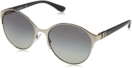 Women's METAL WOMAN SUNGLASS 0VO4049S Round Sunglasses, SILVER, 55 mm
