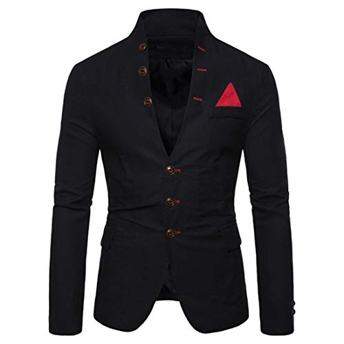 Men's Blazer Casual Suit Jacket Mens Classic Three Button Blazer Jacket...