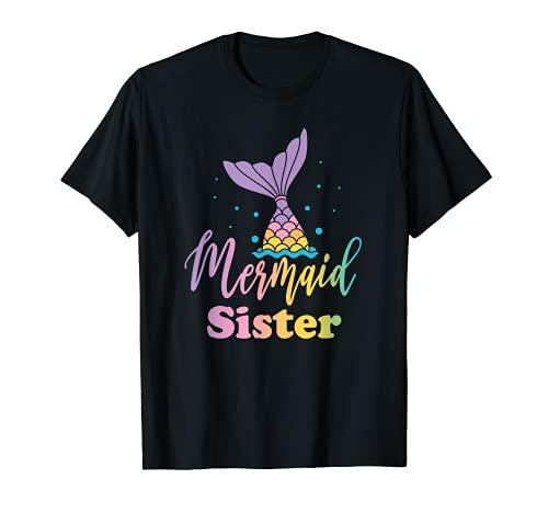 Mermaid Sister Funny Birthday Girl Princess Party Matching T-Shirt