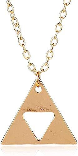 FACAIBA Collar Metal Triángulo Collar Collares Pendientes Joyería Cadena de eslabones Largos Charm Collier