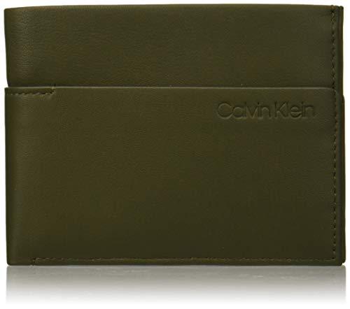 Calvin Klein Herren Sliver 5cc Coin Geldbörse, Grün (Camouflagefluoyellow), 2x9.6999999999999993x12.7 cm