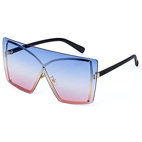 LUOXUEFEI Gafas De Sol Gafas De Sol Cuadradas De Gran Tamaño Lentes De Anteojos Mujeres Sin Montura Hombres Gafas De Sol
