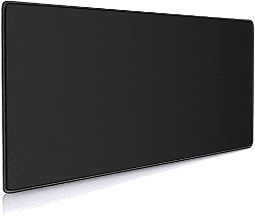 ALSISK XXL Large Black Gaming Mouse Pad 35.4X15.74X0.12 Inch(900X400X3MM),with Non-Slip Base,Waterproof and Foldable Pad,Desktop Pad Suitable for Gamers,Suitable for Work,Office and Home